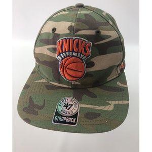 NEW New York knicks Army Print 47 Strapback Hat